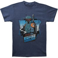 Star Wars Men's  The Fett T-shirt Heather Navy Rockabilia