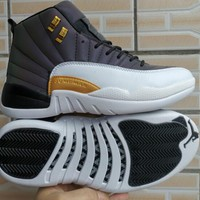 Air Jordan 12 White Lighting Sport Basketball Shoes