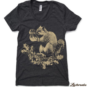Womens Boxing SQUIRREL T Shirt american apparel S M L XL (17 Color Options)
