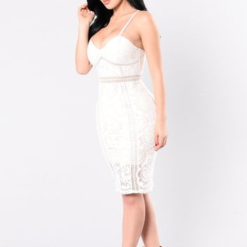 Baby Don't Lie Dress - White