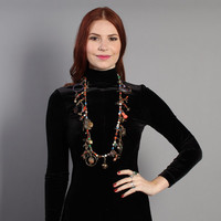 70s Statement CHARM NECKLACE / One of a Kind Ethnic Boho Necklace