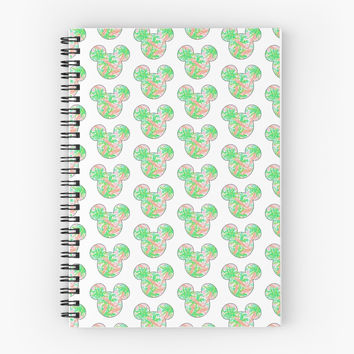 Lilly Pulitzer Inspired Mickey Mouse Head - Palm Trees by charmingsouth