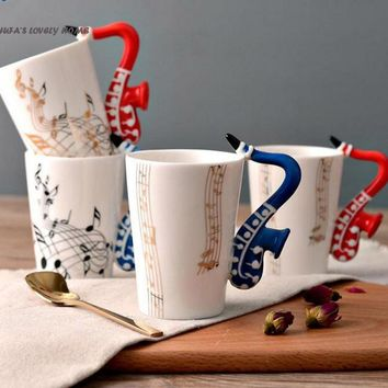 Novelty Creative Saxophone Ceramic Cup