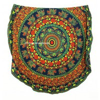Round Roundie Indian Royal Camel Mandala Round Tapestry Bohemian Beach Throw Decor Flower Round Tapestries - Future Handmade