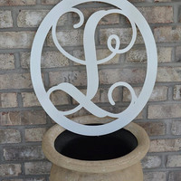 Rustic Monogram Metal Letter-  Great gifts, Outside decor, lawn and garden, spring decor