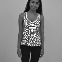 DEV-005 3M abstraction racerback tank #1