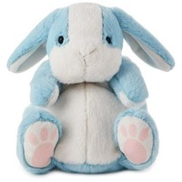 Chubby Blue Bunny Stuffed Animal, 7.5""