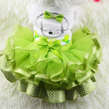 Most Styles Dog Puppy Skirt Wedding Party Dog Cat Princess Dress Clothes