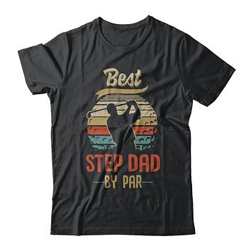 Vintage Best Step Dad By Par Fathers Day Funny Golf Gift