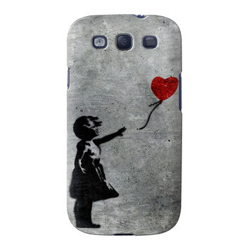 Banksy Girl with Heart Balloon Full Wrap High Quality 3D Printed Case for Samsung Galaxy S3