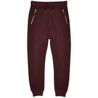 Dark Red Drop Crotch Sweatpants