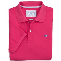 Short Sleeve Skipjack Polo in Dark Pink by Southern Tide