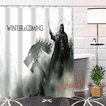 New Custom Unique Game Of Thrones Eco-Friendly Fabric Modern Shower Curtain Bathroom Waterproof With Hook Bath Curtain Gift