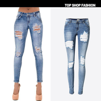 Women's Fashion Hot Sale Slim Stretch Denim Skinny Pants [7976026433]