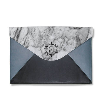 Marble clutch,monogram clutch bag,ovesize clutch bag,leather hand bag,girlfriend gifts,gift for her,personalise clutch,mac book sleeve