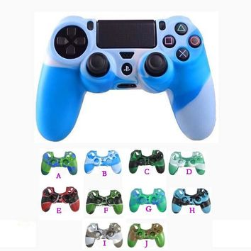 10 pcs/lot For PS4 Silicon Protective Cover Case for Sony PS4 PlayStation 4 PS4 Pro/Slim  controller skins game accessories