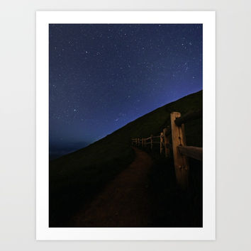 Path to the stars Art Print by ArtEscape