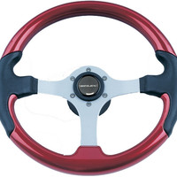 Spargi Leather Look Boat Steering Wheel, Red - Uflex