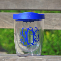 personalized cup, kids cup, plastic cups, wedding tumbler, wedding party favor, summer cups, double wall tumbler, monogrammed cup, acrylic