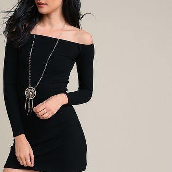 Cruise Control Off- Shoulder Dress | Threadsence