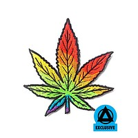 Laganja Estranja - Rainbow Cannabis Leaf Patch