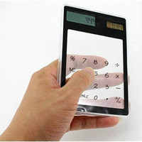 Ultraslim fashion Transparent Solar Calculator - New Product - Trendy - Fashion multimedia accesoire gadgets