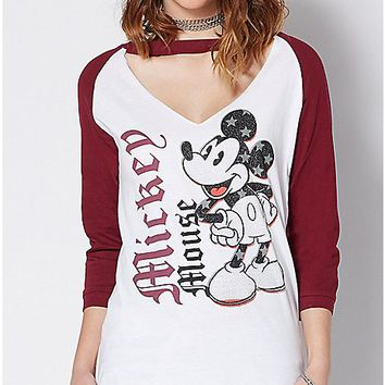 Choker Mickey Mouse T Shirt - Disney - Spencer's