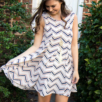 Zig Zag Dreams Dress - Final Sale