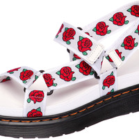 SNRD-211 Fashion Rose Pattern Velcro Women Sandals White