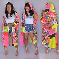 VERSACE Women Cape Coat Hoodies