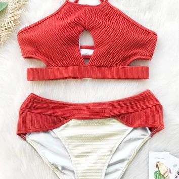 Cupshe Coast Road Tank Bikini Set