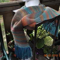 South West Hand Spun Hand Woven Scarf