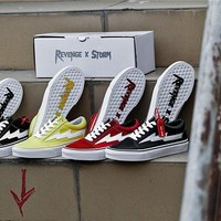 Revenge x Storm Old Skool Vans Leather Skateboarding Shoes 35-44