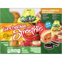 Lunchables Ham & American Sub Sandwich 4 oz. Tray with Chiquita® Strawberry Banana Smoothie 4.54 fl. oz. Pouch - Walmart.com