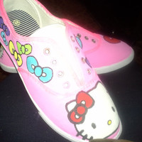 Personalized Hello Kitty Shoes by ScootShoes on Etsy