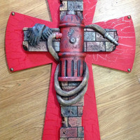 20%off Sale NEW Fire Dept Cross