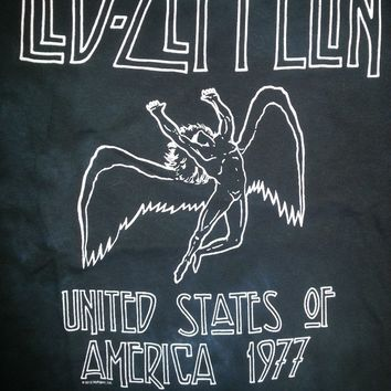 New LED ZEPPELIN USA TOUR 1977 TIE DYE  LICENSED CONCERT BAND  T-Shirt