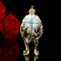 QIFU Fashion Valuable Metal religious mascot Collection Faberge egg home decor