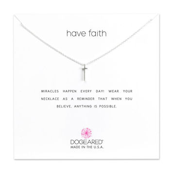 Have Faith, Long Cross Necklace, Sterling Silver | Dogeared