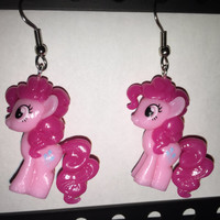 Squishy Pops Earrings - My Little Pony Pinkie Pie - made from re-purposed toys