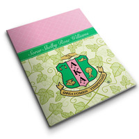 Pocket Folder Personalized AKA Ivy, Pink and Green