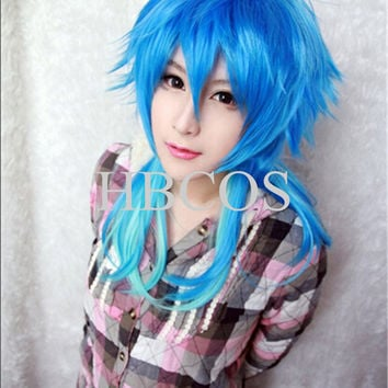 Brand New High Quality Japan Anime Dramatical Murder DMMD AOBA Blue cosplay wig  Free cap