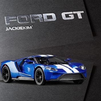 High simulation 1:36 Scale Ford GT Fast Furious Alloy Car Model Toy Pull Back For Kids Christmas Gifts Collection Free Shipping