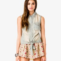 Spiked Chambray Shirt