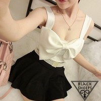 3 color Bow Cute Tank Top from Blacksheep