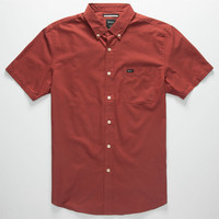 Rvca That'll Do Oxford Mens Shirt Rosewood  In Sizes