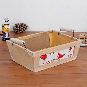 Wooden Home Storage Box Multi-functioned Cosmetic Accessory Box [6282630662]
