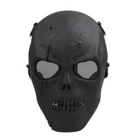 Skull Skeleton Airsoft Paintball BB Gun Full Face Protect Mask = 1946392196