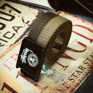 The New Stussy Print Canvas Waistband