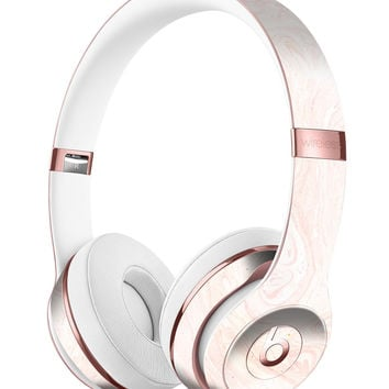 Light Coral Textured Marble Full-Body Skin Kit for the Beats by Dre Solo 3 Wireless Headphones